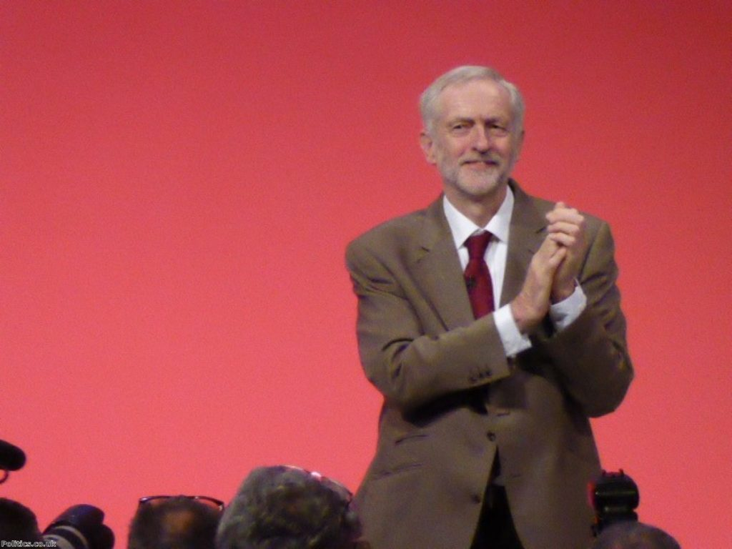 Jeremy Corbyn makes first keynote conference speech as Labour leader