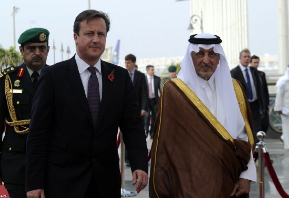 The prime minister is under pressure over the UK's relationship with Saudi Arabia