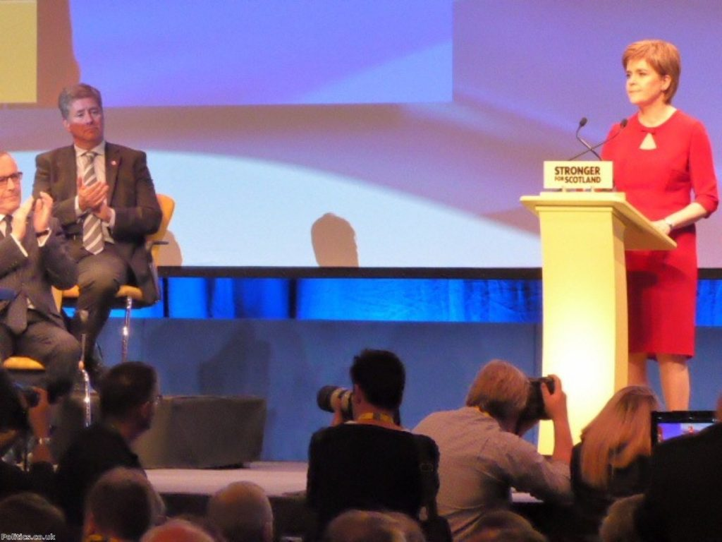 Nicola Sturgeon addresses her party conference