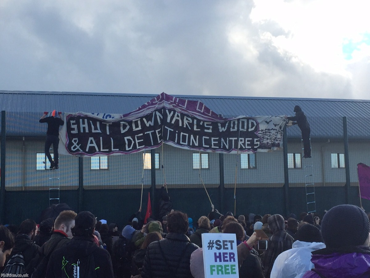 """This week more than 100 women in Yarl's Wood detention centre went on hunger strike"""