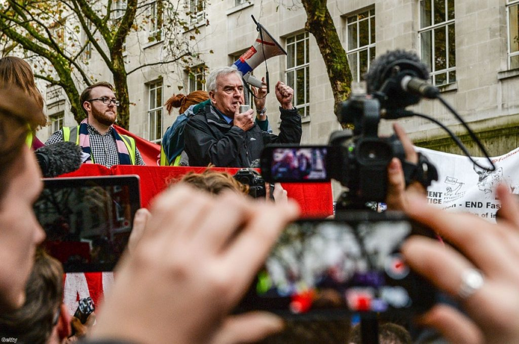 """John McDonnell: """"I was really angry because we saw three ministers resign, and one live on television"""""""