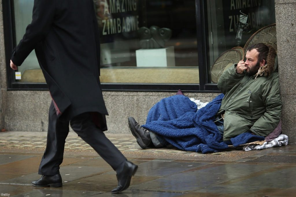 Rough sleeping has increased by 30% in the last year