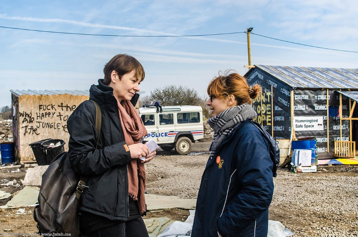 Caroline Lucas visited camps in both Calais and Dunkirk