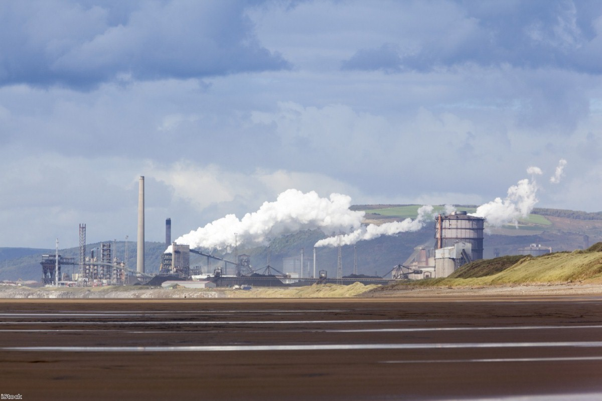 4,000 jobs are at risk at the Port Talbot steelworks