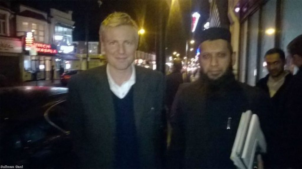 Zac Goldsmith (L) called Suliman Gani (R) 'one of the most repellent figures in this country'
