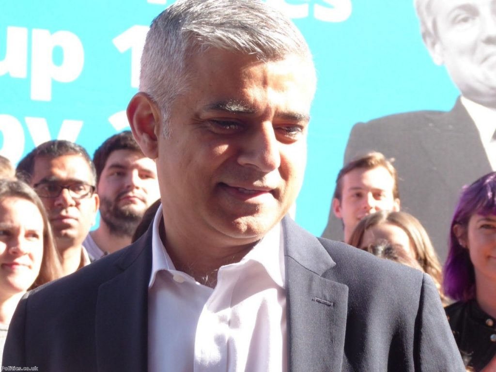 Sadiq Khan unveils posters on final day of his campaign