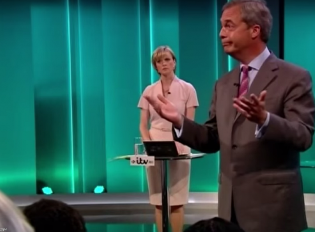 """""""Cameron got a rough ride, but nothing like that faced by his opponent. They tore the Ukip leader apart."""""""