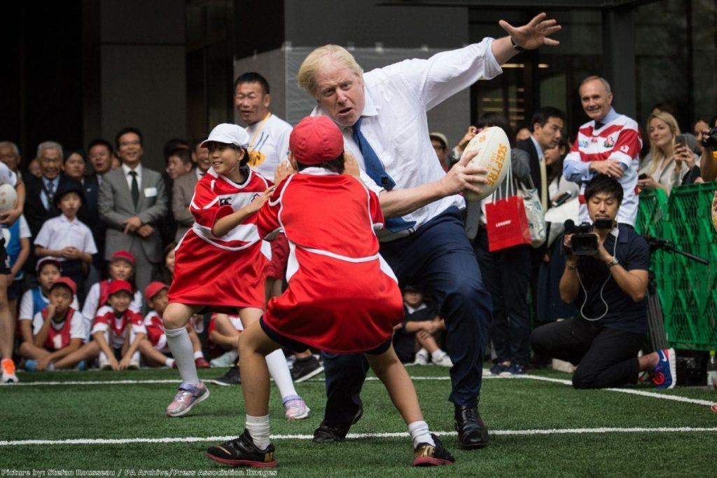 Boris Johnson in Japan:  Shortly before flooring a small boy