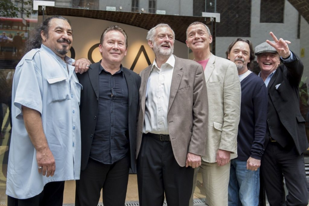 Jeremy Corbyn endorsed by popular 1980s reggae combo UB40