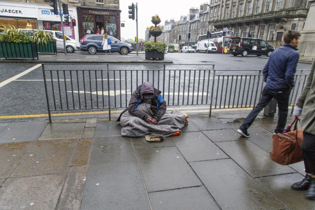 """The number of people sleeping on the streets in England is now at the highest level on record"""
