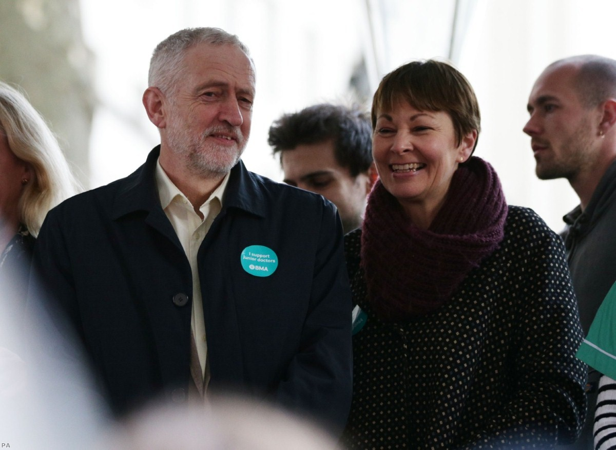 Jeremy Corbyn and Caroline Lucas have campaigned together in the past