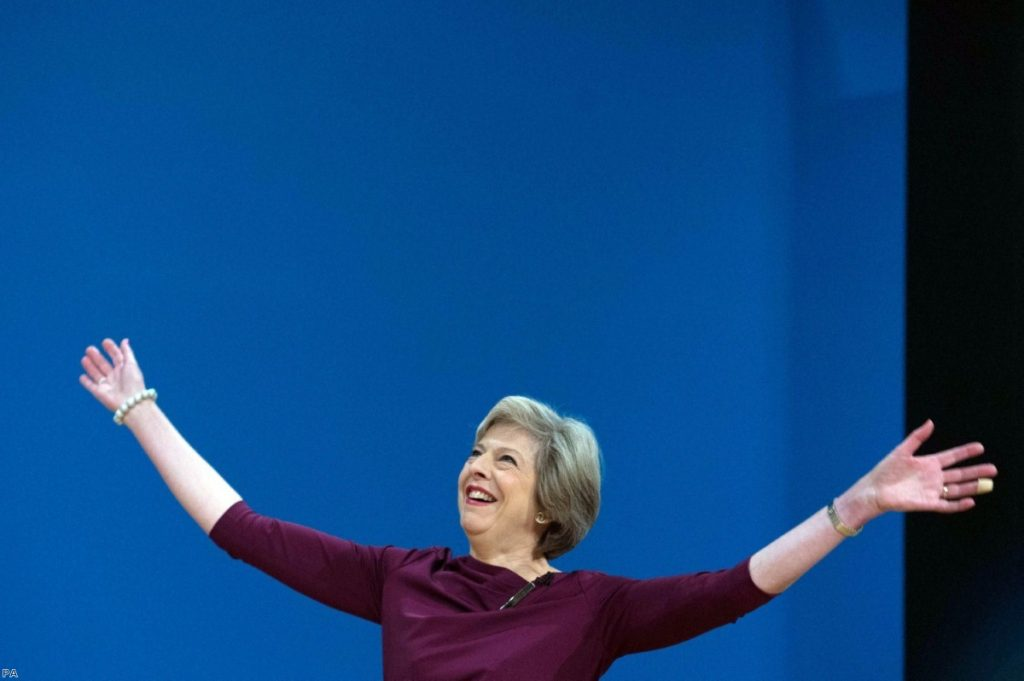 Theresa May: Not waving but drowning