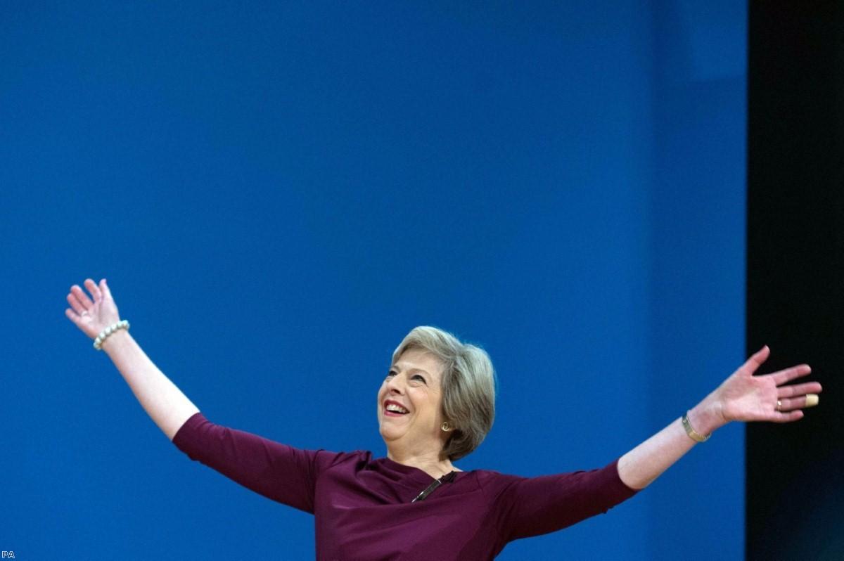 Theresa May: Not waving but drowning