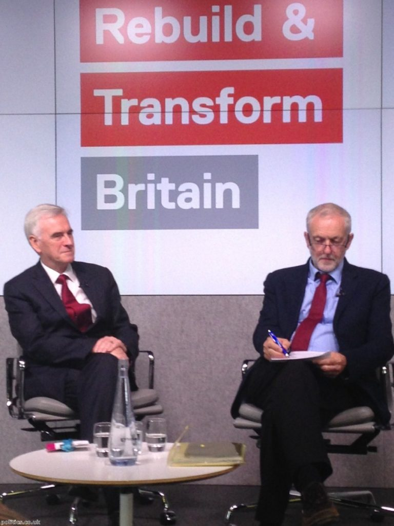John McDonnell suggested that Brexit is an 'enormous opportunity' for Britain