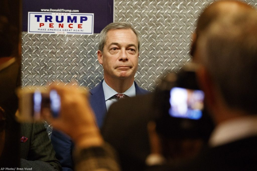 """""""Farage really has tried every way to get into power over his career and consistently failed. Now he thinks he has found a route."""""""