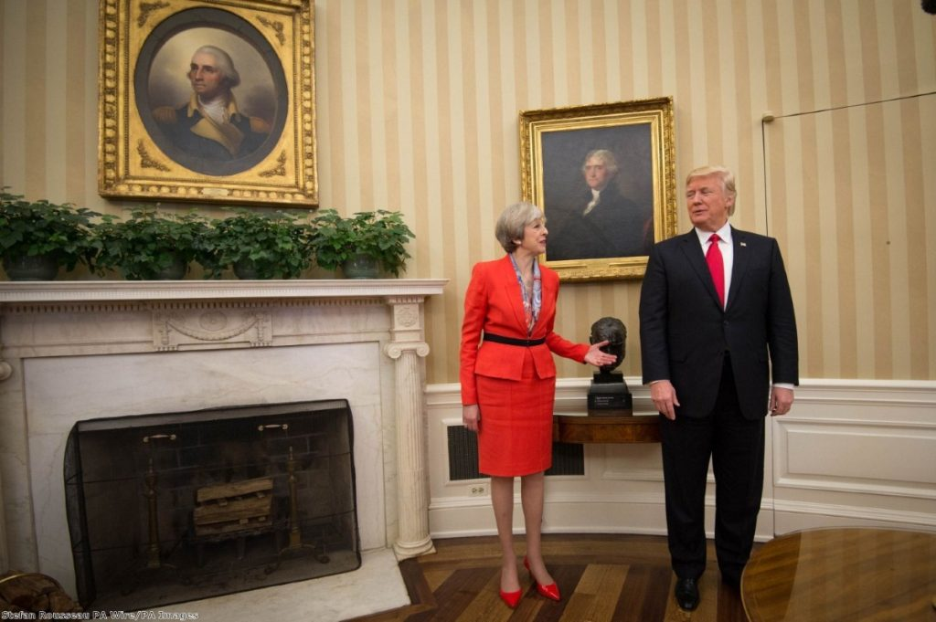 """""""Theresa May has an enormous Trump-shaped problem on her hands."""""""
