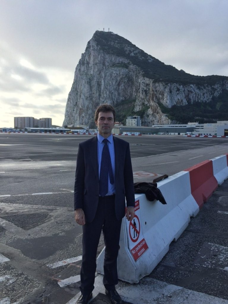 Tom Brake in Gibraltar, where Brexit poses serious risks to the local economy