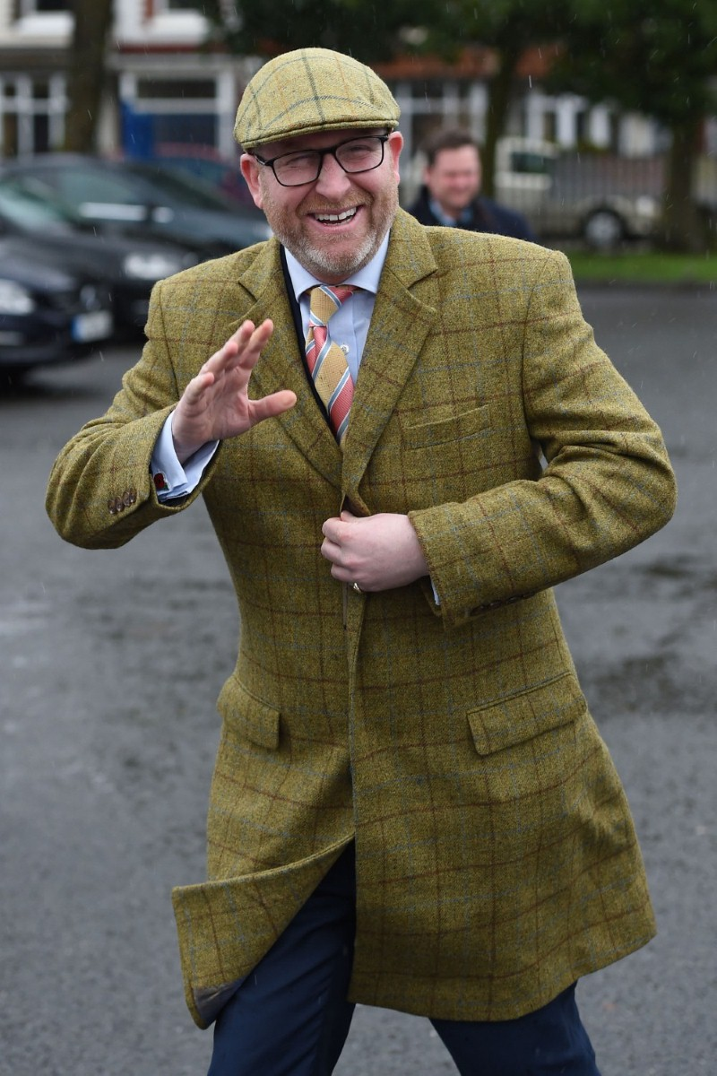 Paul Nuttall in Stoke yesterday. If the Ukip leader can't succeed in this seat, he'll struggle anywhere.