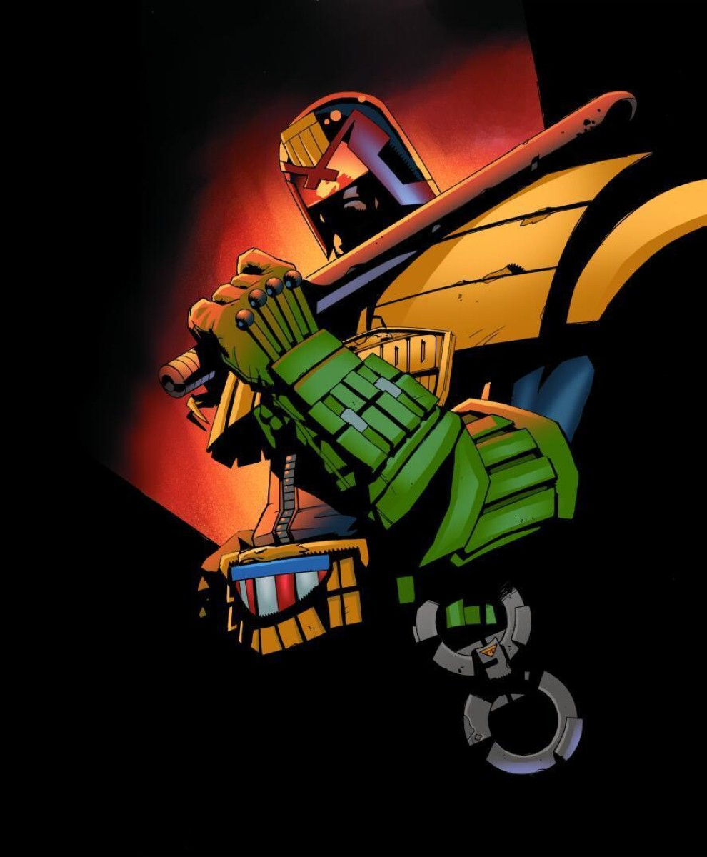 """""""Dredd has gone from a noble, even heroic, guardian who maintains that all are equal beneath the totalitarian boot-heel of the law, to the upholder of a brutalising authoritarian system."""""""