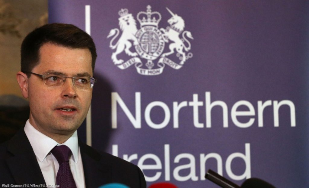 """""""James Brokenshire, the Northern Irish secretary, is now trying to find more time for Sinn Fein and the DUP to reach a solution"""""""
