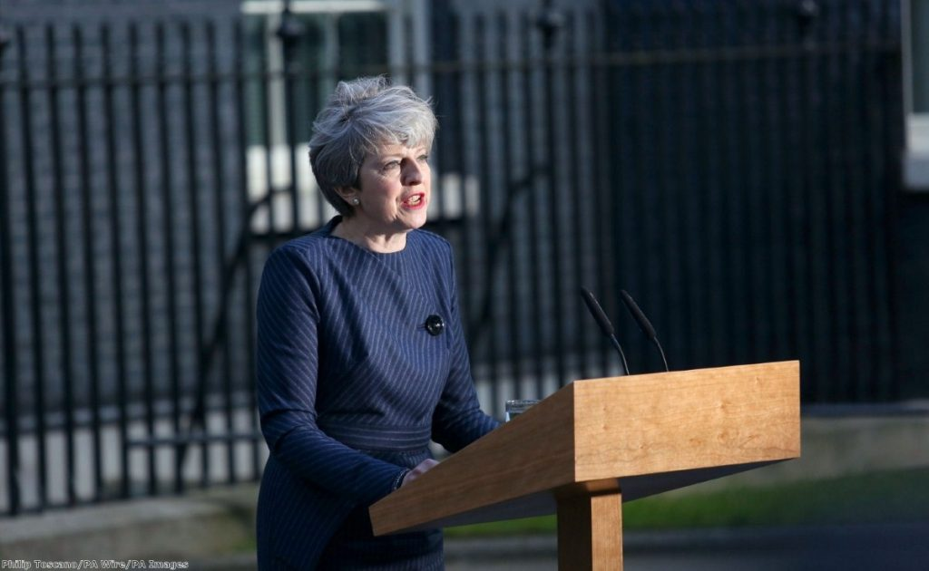 Theresa May has announced that an early election is to take place on the 8th June