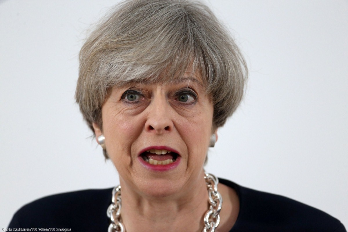Theresa May: About to pass a law against her own Brexit strategy? | Copyright: PA