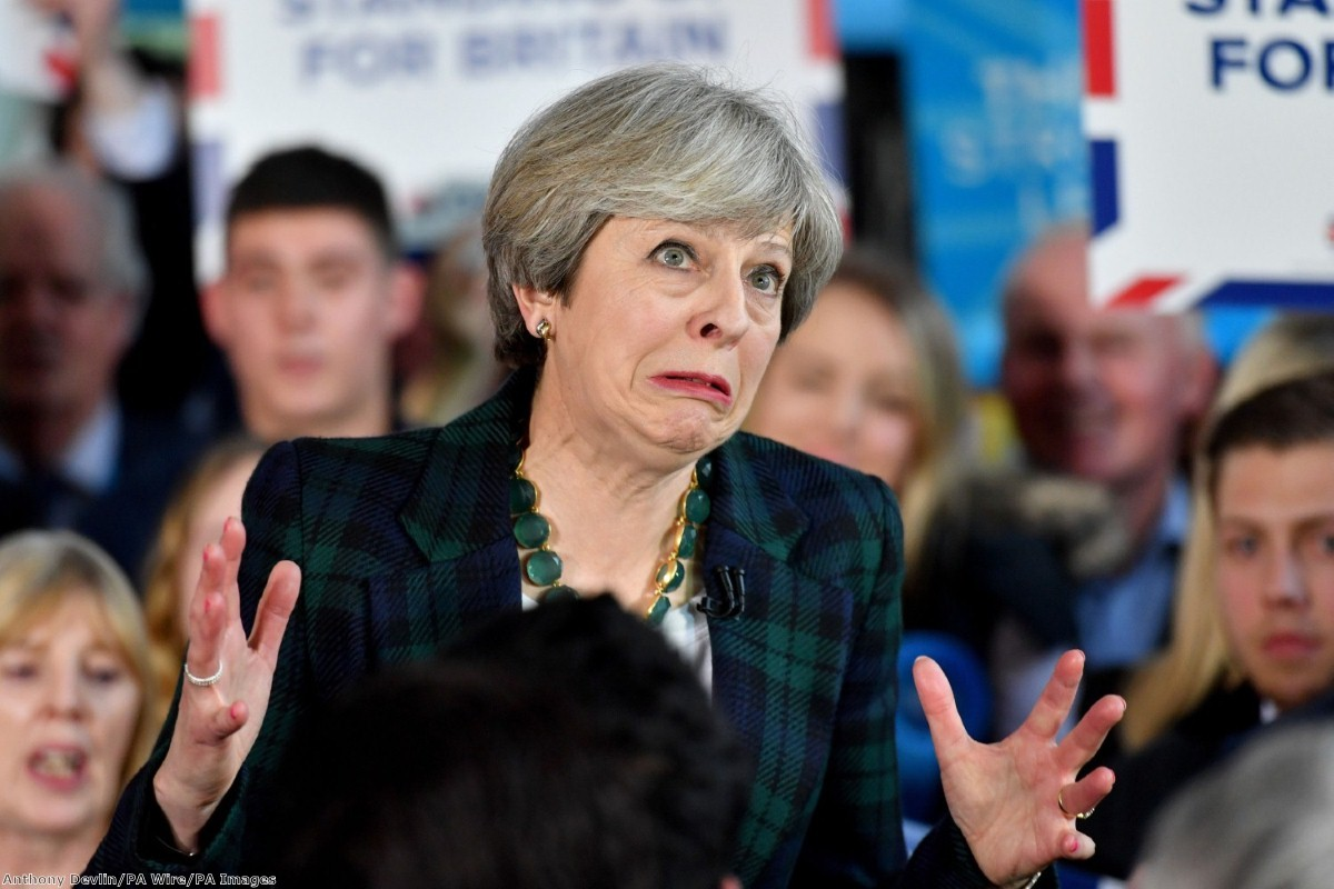 """""""Theresa May is pushing a Maggie Thatcher tribute act to an electorate dreaming of the real thing"""""""