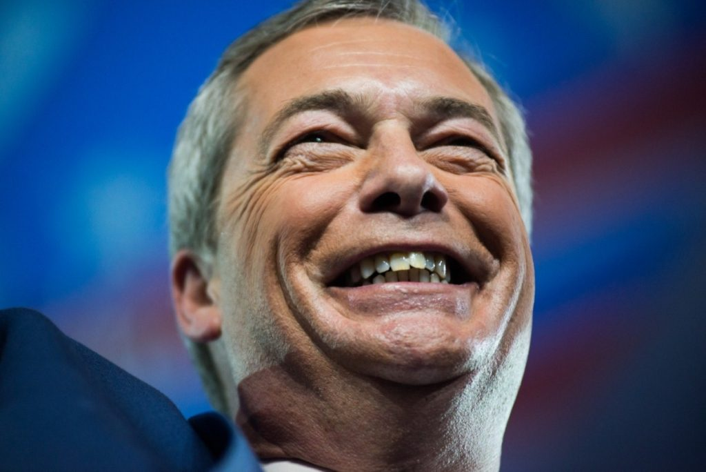 Nigel Farage in the US supporting Trump. The former Ukip leader has installed his vision in the heart of Downing Street.