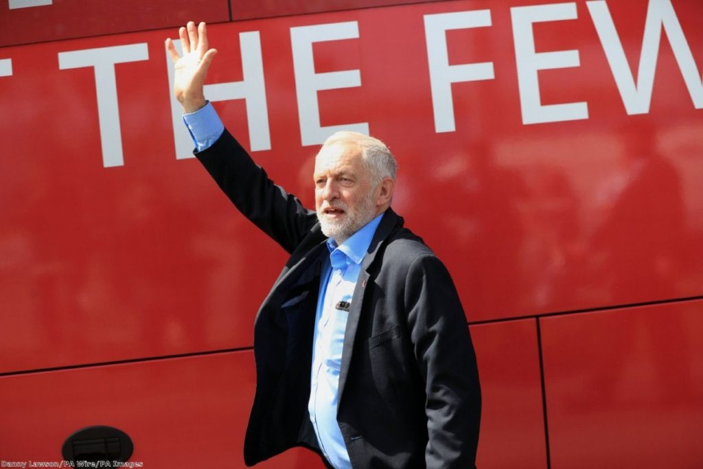 Jeremy Corbyn has a huge lead among younger voters