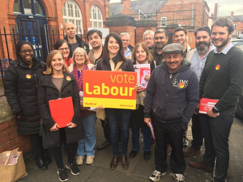Liz Kendall campaigning in Leicester West