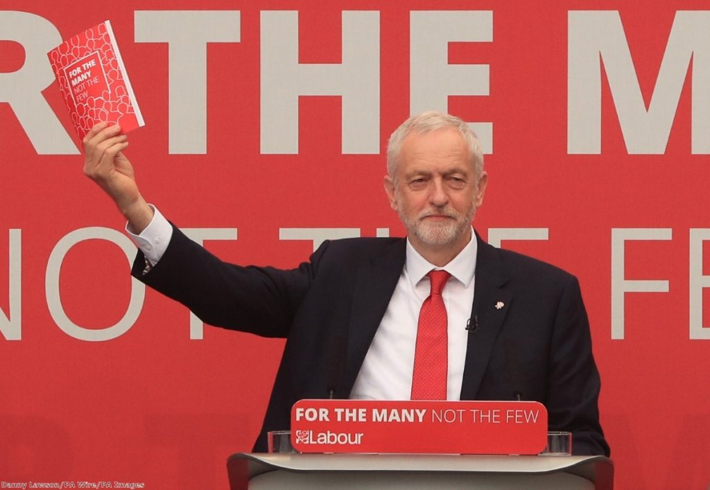 Jeremy Corbyn's Labour manifesto will be used as the benchmark for those wanting to replace him