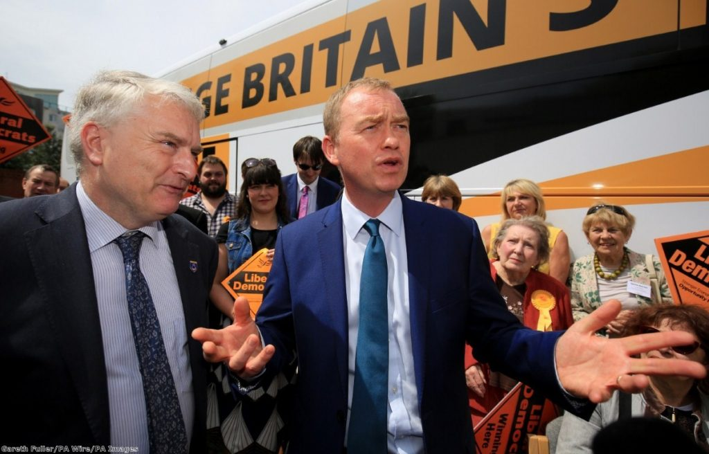Tim Farron has committed to a soft Brexit deal, a referendum on a final deal, and tax-funded public spending