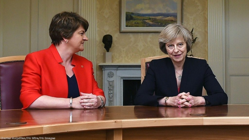Arlene Foster is due to meet Theresa May tomorrow to discuss a deal
