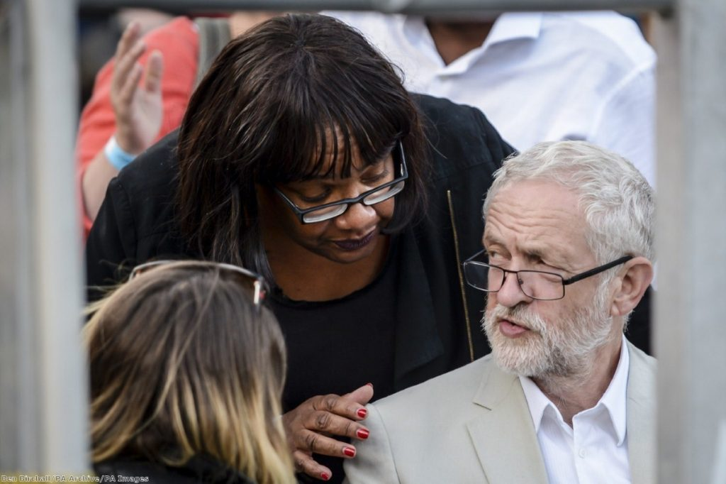 """""""Shadow home secretary Diane Abbott laid out what an immigration policy would look like """"in the context of Labour values"""""""