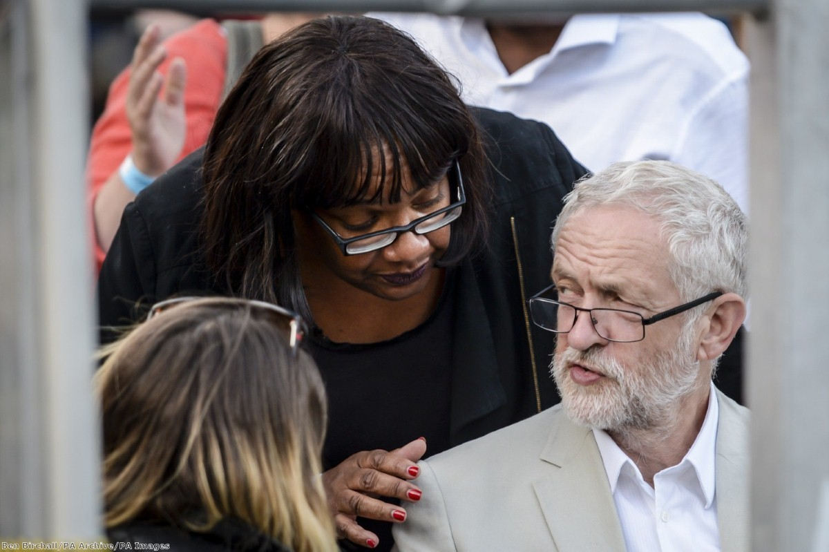 """Shadow home secretary Diane Abbott laid out what an immigration policy would look like ""in the context of Labour values"""
