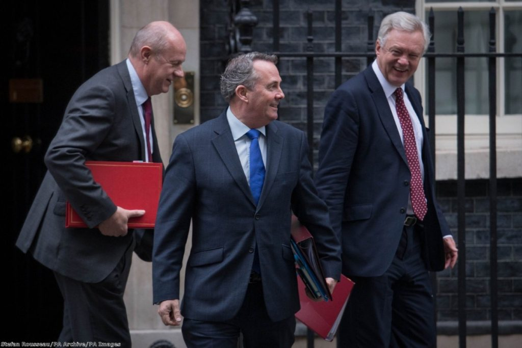 The new customs union would allow Liam Fox to negotiate trade talks - if the EU agreed.
