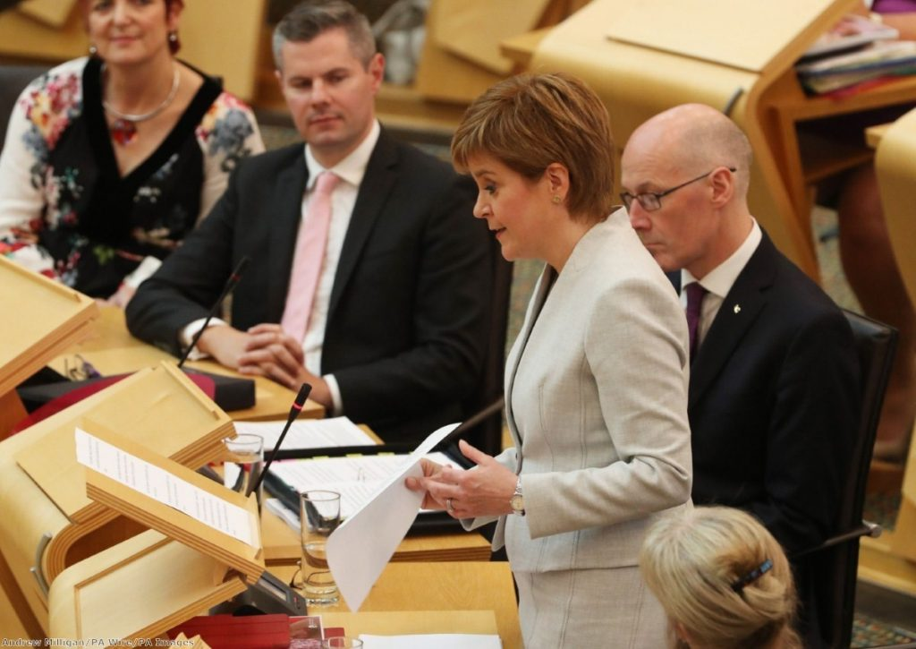 """For the most part, however, what the first minister served up as part of a long-trailed effort to ""refresh"" her administration"""