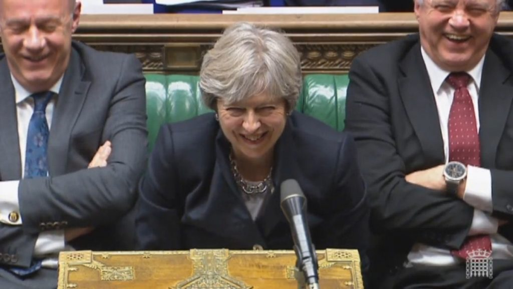 May during her statement to the Commons this afternoon