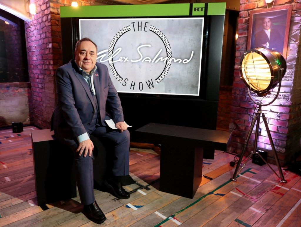 Alex Salmond on his RT set