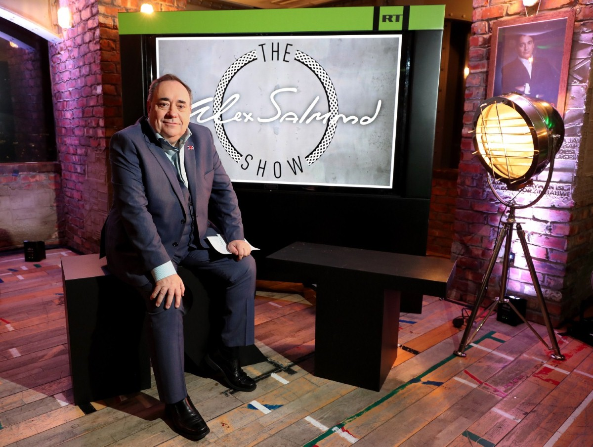 Alex Salmond on his RT set