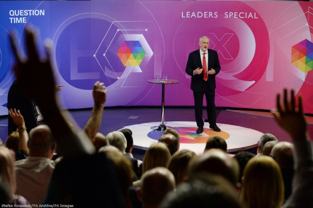 """The Labour leader's performance outpolled May among all age groups up to 64 year olds"""
