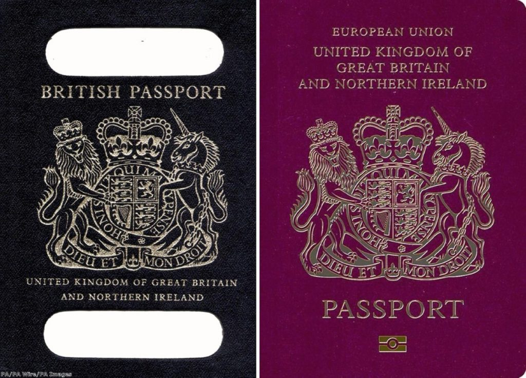 """Apparently the new passport will have images inside of Britishness"""