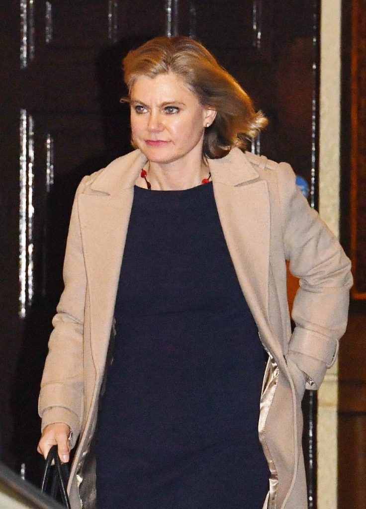 Former education secretary Justine Greening leaves No.10 following her resignation