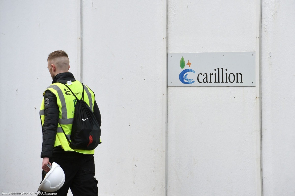 """The political, social and financial contagion of Carillion's collapse will unfold for some time"""