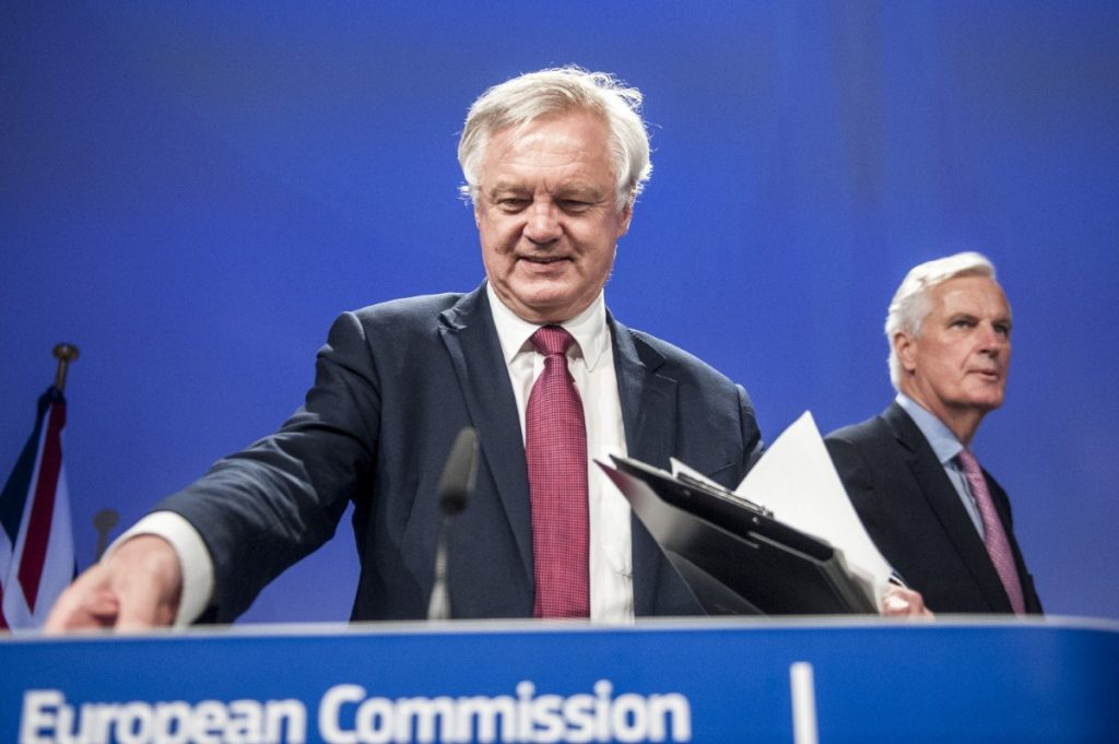 Brexit secretary David Davis and EU chief negotiator Michel Barnier hold a press conference  in summer 2017. The next stage of negotiations will focus on transition.