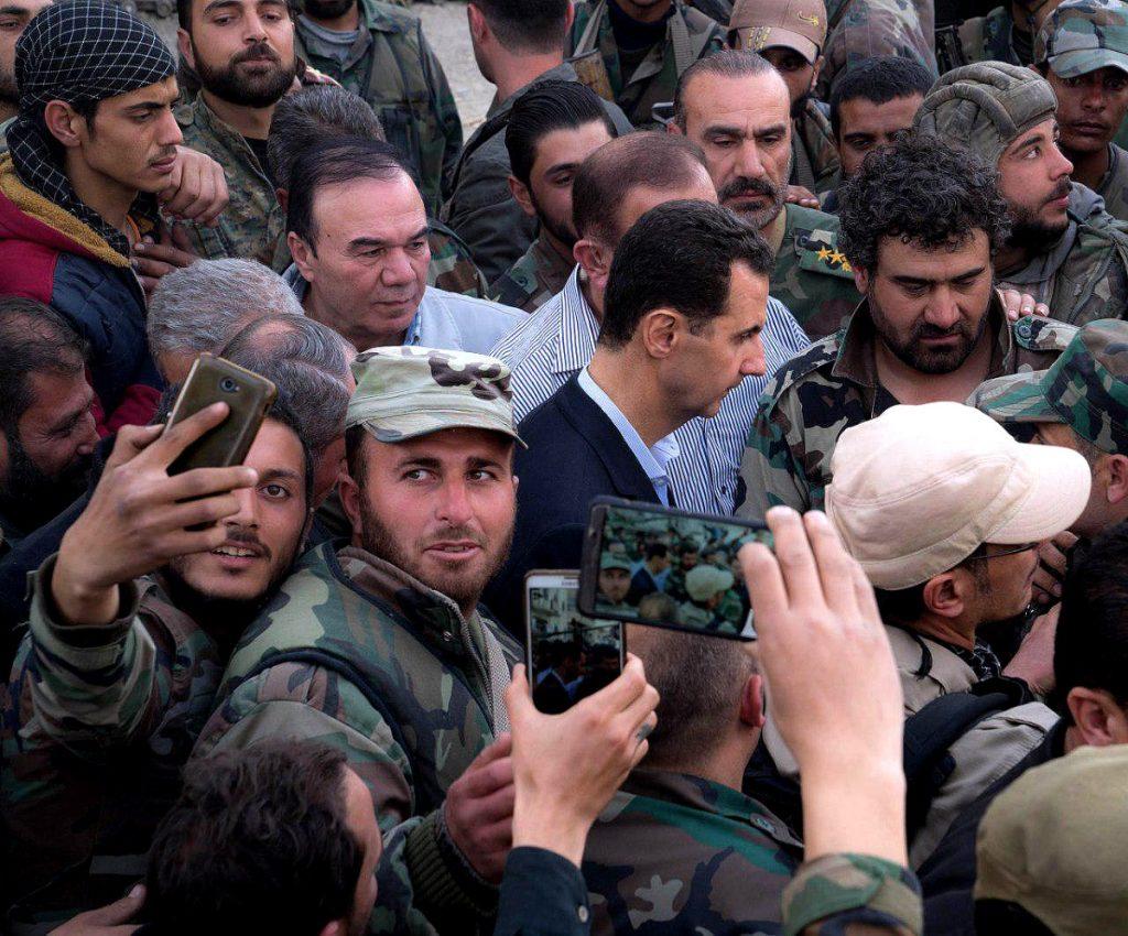 Bashar al-Assad Visits Eastern Ghouta - Syria
