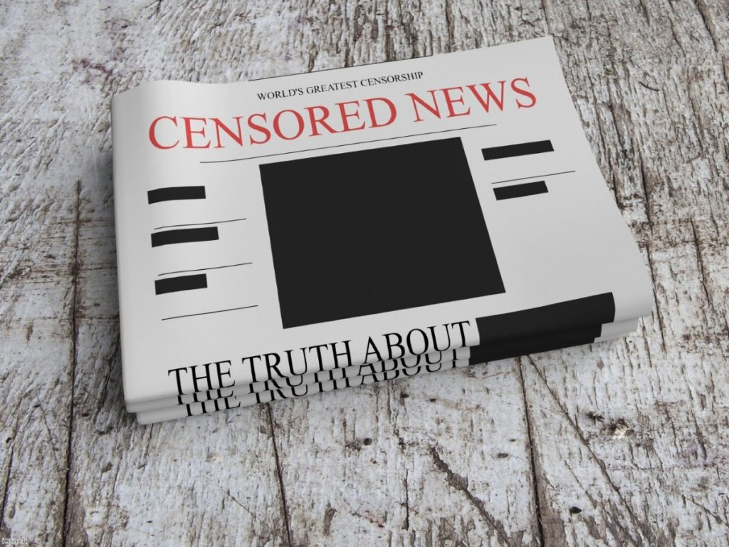 censored newspapers