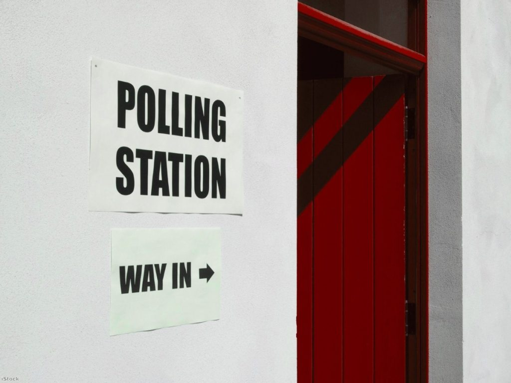 Election polling station Copyright: iStock