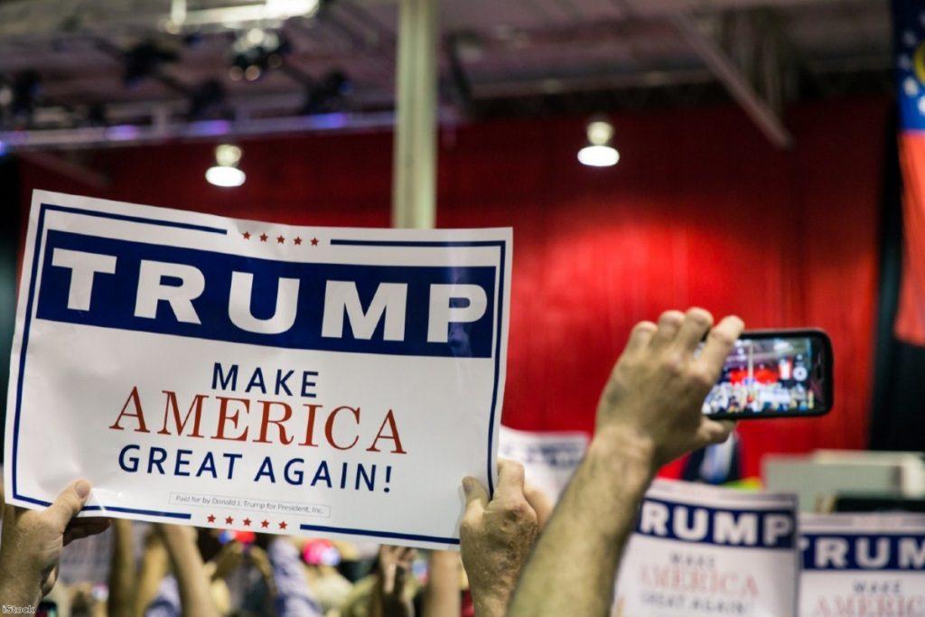 Donald Trump's election slogan. | Copyright: iStock