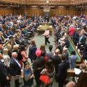 SNP MPs walk out of the House of Commons during PMQs after Ian Blackford was kicked out of sittings on June 13, 2018. | Copyright: PA